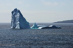 sculpted by nature - a work in progress (wespfoto) Tags: ocean sculpture ice newfoundland stjohns glacier iceberg