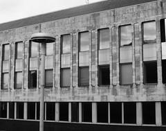 Windows (teaselbrush) Tags: windows urban west geometric architecture concrete sussex geometry angles lamppost horsham