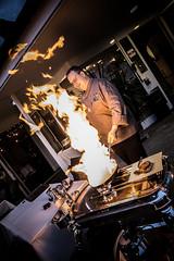 Lars Laier (michel.eichelberger) Tags: man cooking fire person restaurant hotel schweiz switzerland lars human chef mann feuer frick koch mensch kochen flamb laier platanenhof flambieren