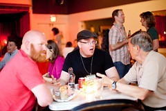 Dinner at the after party (Chris Guillebeau) Tags: portland fave wds chrisguillebeau worlddominationsummit aonc artofnonconformity