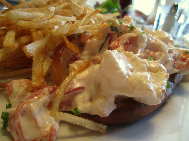 the lobster roll at pearl oyster bar