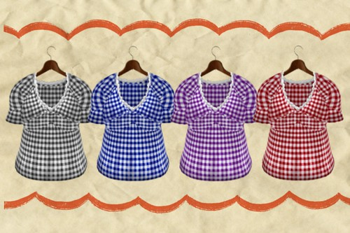 (Slow Kitchen)GIngham_check_tunic