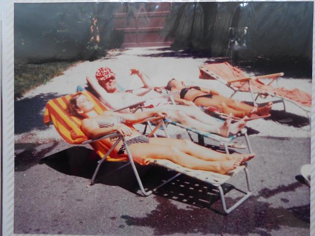 70's sunbathers