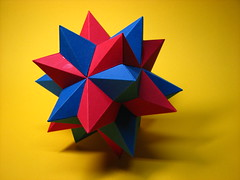 Compound of two small stellated dodecahedra