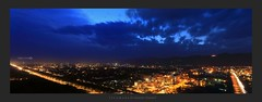 Grand Hayaat-Bird View Compress (Aadilsphotography) Tags: city pakistan panorama night clouds canon lights long exposure wide grand studios islamabad hayaat anlge aadils fadils