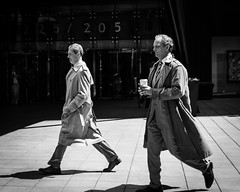Top. Men. (DVSchnake) Tags: street bw white chicago black corporate business indianajones