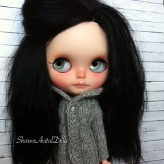 Jordan thinks she looks quit good in that sweater.. And really can't wait to find a new home.. So for more info you can find us on FB! SharonAvitalDolls