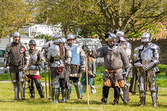 [2014-04-19@15.22.43a] (Untempered Photography) Tags: history costume helmet battle medieval weapon sword knight shield armour reenactment combatant chainmail canonef50mmf14 perioddress polearm buckler platearmour gambeson poleweapon mailarmour untemperedeye canoneos5dmkiii untemperedeyephotography glastonburymedievalfayre2014