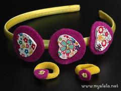 Cerchietto feltro e codini giallo (mysisia) Tags: feltro bottoni cerchietto
