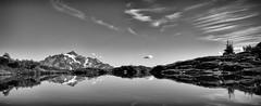 Camp view (D. Inscho) Tags: pacificnorthwest northcascades mtshuksan reflection tarn washington mountains mtbakerwilderness cirrus glaciers
