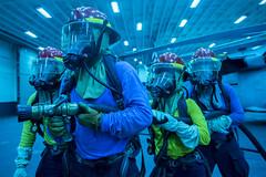 160928-N-JS726-773 (U.S. Pacific Fleet) Tags: navy marines amphibiousassault southchinasea bonhommerichard damagecontrol training firefighting expeditionarystrikegroup underway deployment military