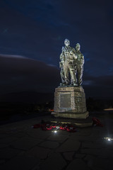 United We Conquer (Matt photo3) Tags: night spean bridge memorial monument commando commandos united we conquer army second world war wwii blue green brown poppies poppy wreath honour valour red nikon d500
