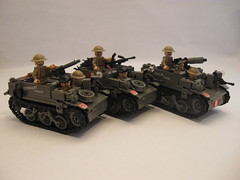 "Canadian Universal Carrier Mk.II squad (""Rumrunner"") Tags: infantry army gun lego brodie wwii helmet machine lewis canadian 2nd ww2 decal universal sten waterslide custom armour carrier bren worldwar2 brigade mkii allies vickers armoured brickarms brickmania"