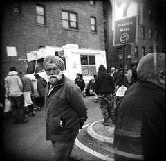 New York (Etienne Despois) Tags: nyc travel bw newyork square holga queens travelplanet