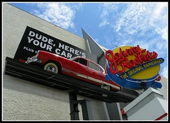 Petersen's Automotive Museum (Dusty_73) Tags: auto california usa car sign museum america la los neon angeles united automotive johnny states kaiser rockets fairfax wilshire petersen