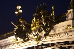 Nymphs of the Seine (Hylda_H) Tags: travel bridge sculpture paris heritage history beauty seine night photography europe flickr fotografie angels lanterns ornate parijs beautyisintheeyeofthebeholder hyldah nymphsoftheseine canoneos7d24105mm georgesrciponartist builtbetween1896and1900designedbyarchitectsjosephcassienbernardandgastoncousin