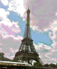 Eiffel Tower (Posterized Photo) by randubnick