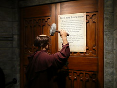 Luther damaging the Wittenberg church door by Boldewyn