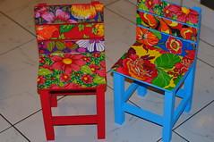 cadeira infantil de chita (Ateliê Mari Martins) Tags: artesanato chita cadeira tecido chitão