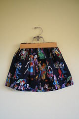Handmade Dia de los Muertos Skirt (honor) Tags: black halloween girl children handmade skirt henry fabric rockabilly diadelosmuertos alexander paseodelosmuertos