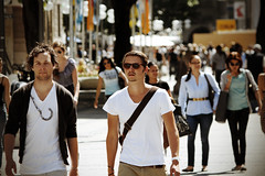 Münchener (simone|cento) Tags: street city people sun holiday men look fashion germany munich square downtown place candid style sunny guys center potrait marienplatz