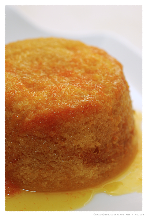 steamed tangelo golden syrup pudding© by Haalo