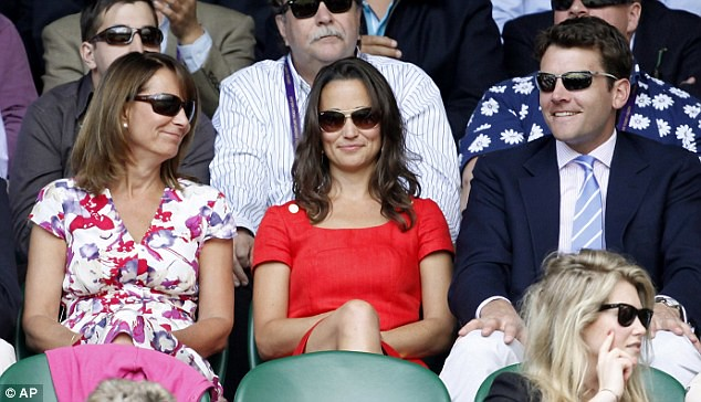 Pippa Middleton ends speculation of a break-up as she and boyfriend Alex Loudon arrive at Wimbledon  9