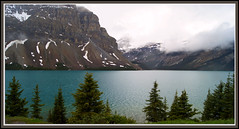 Bow Lake--Banff (Carplips) Tags: trees mountain lake clouds silt glacial bowlake