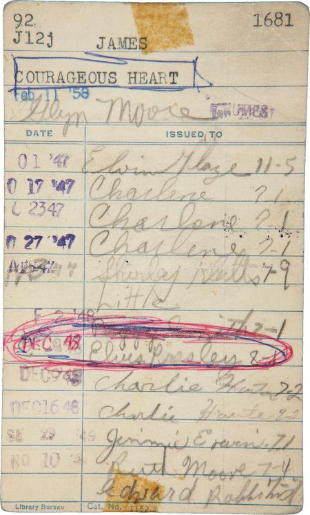1948ElvisSignedLibraryCard