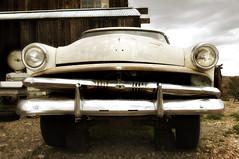 1953 Ford Customline (Curtis Gregory Perry) Tags: auto old ford abandoned car town nikon automobile nevada ghost rusty mobil front canyon eldorado chrome motor grille 1953 automvil xe d300 automobil     samochd  customline kotse  otomobil   hi   bifrei  automobili   gluaisten