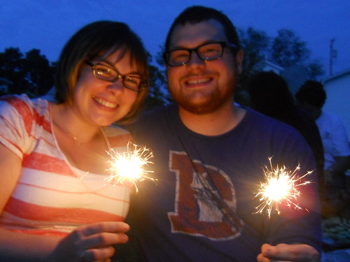 Sparklers at the fireworks