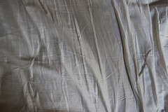 Empty bed (Mister Graves) Tags: white bed sheets wrinkled