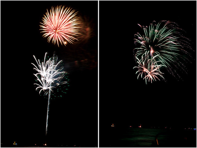 July 4th fireworks diptych 12
