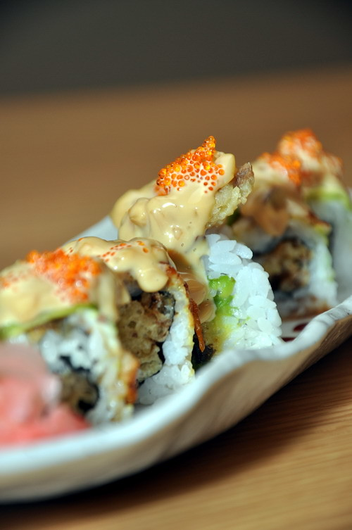 Eell Avacado Deep Fried Soft Shell Crab Sushi Roll A