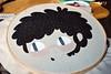 """Ana"" Autoretrato (Anita Mejia) Tags: red portrait black cute illustration stitch retrato traditionalart kawaii hilo manta ilustracion chocolatita anitamejia"