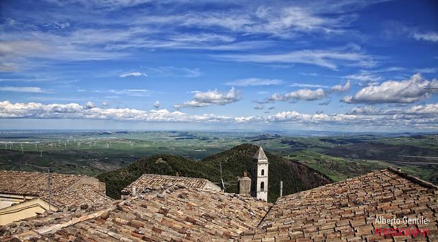 le nuvole viste da Sant'Agata di Puglia.