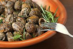 Μπουμπουριστοί χοχλιοί - fried snails