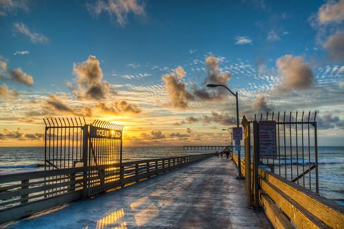 OB Pier (Justin in SD) ocean sunset cloud seascape color water clouds canon landscape pier pacific sandiego dusk oceanbeach canon5d hdr fishingpier oceanbeachpier canon5dmarkiii 5d3 5dmark3