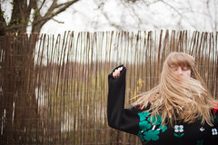 (evilibby) Tags: tree fence garden outside outdoors messy blonde messyhair libby 365 daddys hairflip 3655 hairtoss 365days hairflick 365days5