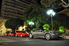 Good night. (Willem Rodenburg) Tags: roof red heritage by night photoshop silver grey hotel spider nikon nightshot martin duo bordeaux ferrari montecarlo monaco mc 427 sa 1855 edition corvette tone v8 aston willem f430 supercars dbs combo aperta v12 z06 twotone 599 d90 midengine cs5 rodenburg hypercars supercombo ubercombo