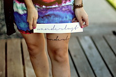 (emmakatka) Tags: girl tattoo ink dress 14 leg fresh wanderlust mm 50