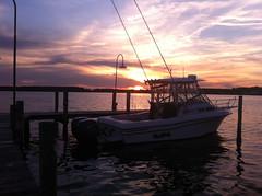 Fishing Boat at Dewy Beach (-Jeffrey-) Tags: sunset beach water pier boat fishing delaware dewey soop sooc iphoneography