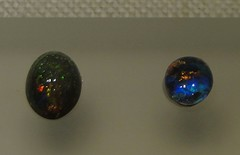 Black Opals, Museum of Natural History, NY (lotos_leo) Tags: light black stone museum australia honduras naturalhistory precious mineral opal museumofnaturalhistory interference amorphous americanmuseumofnaturalhistory diffract silica hydrated palo