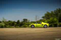 Lotus Elise (velocity_photography) Tags: columbus ohio motion green cars coffee canon photography rebel lotus elise velocity krypton t3i
