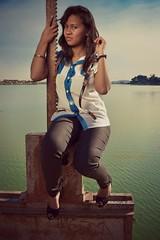 blue (Naly Farrel) Tags: girls lake sexy lac marais madagascar