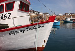 Tiffany Emily Eve (Karen_Chappell) Tags: red white canada newfoundland boat scenic nfld atlanticcanada baydeverde outport avalonpeninsula