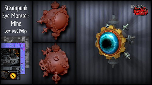 "Steampunk Eye Monster: Mine [ by nemoriko ] • <a style=""font-size:0.8em;"" href=""http://www.flickr.com/photos/29628042@N05/14229814691/"" target=""_blank"">View on Flickr</a>"