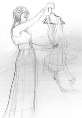 Shopping sketch 1 (Joaqun greda Ycora) Tags: sketch boceto shopper pencil lpiz