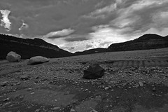 Desolate landscape (Robert Montaa) Tags: black white monochrome landscape desolate lunar storm clouds sky bw