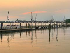 Pier and Bridge_HDR (Aperturef64) Tags: sunset reflections pier maryland potomac potomacriver hdr magichour highdynamicrangephotograph woodrowwilsonmemorialbridge nationalharbormd